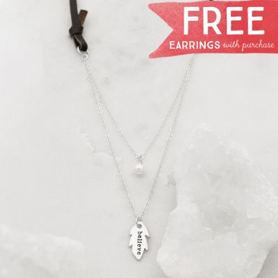 Limited Edition Found Feather necklace