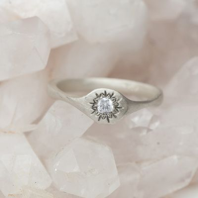 Sunburst Stacking Ring {Sterling Silver}