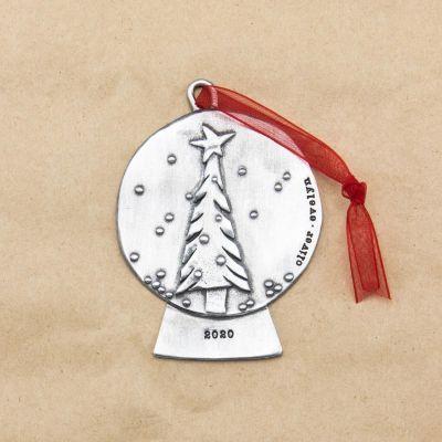 Snow Globe Ornament {Pewter}