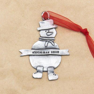 Snowman Ornament {Pewter}