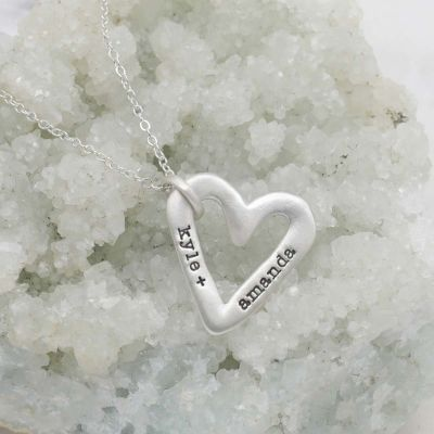 Molded Heart Necklace {Sterling Silver}