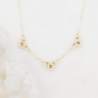 My Darling Ones Initial Necklace {10k Gold}