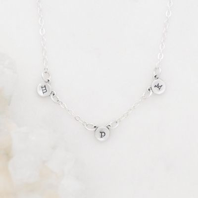 My Darling Ones Initial Necklace {Sterling Silver}