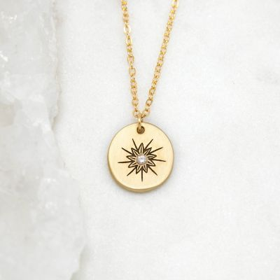 Sunburst Diamond Necklace {10k Gold}