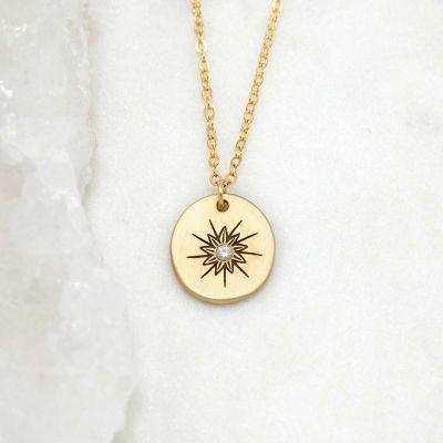 Sunburst Diamond Necklace {14k Gold}