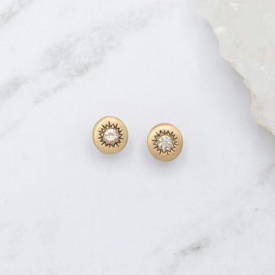 Sunburst Stud Earrings {14K Gold}