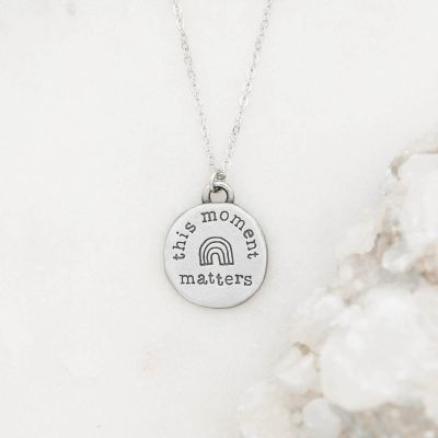 This Moment Matters Necklace {Pewter}