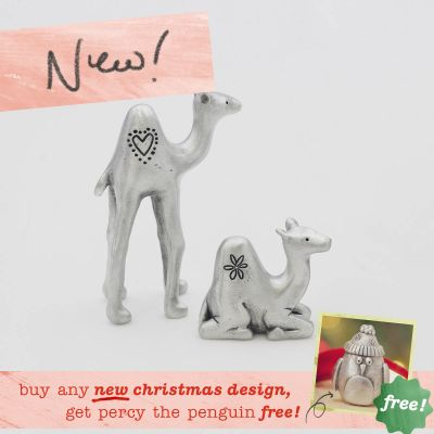 Two Wise Camels Nativity Figurine Set