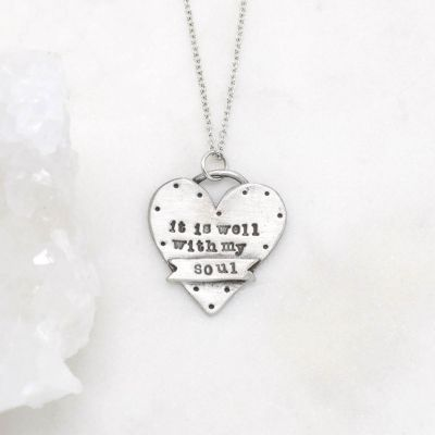 Well With My Soul Necklace {Pewter}