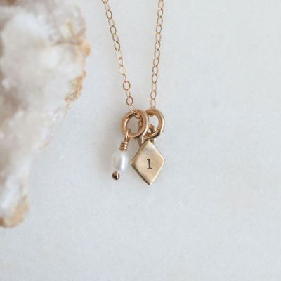 Wild About You Initials Necklace {10k gold}