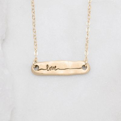 Written With Love Necklace {14k gold}