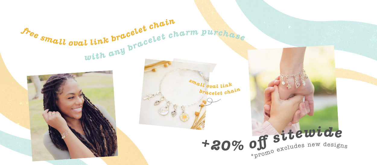 Free bracelet chain with any bracelet charm purchase