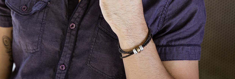 Mens Limitless Leather Bracelet