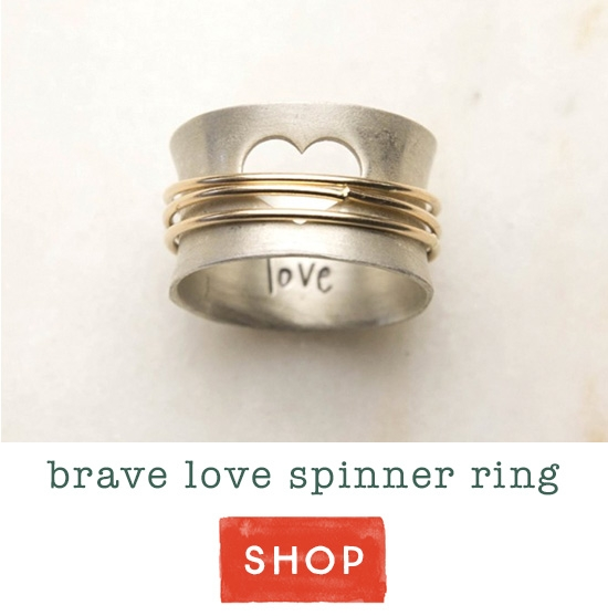 Brave Love spinner ring