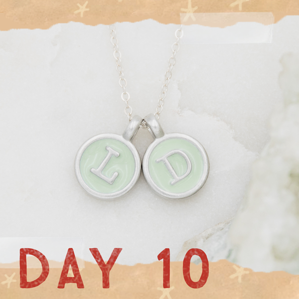 Day 10 - Typewriter Initial Necklace