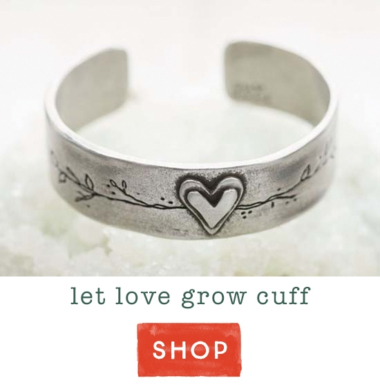 Let Love Grow cuff
